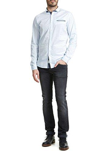 Lee Cooper Regular Jeans Straight Long John Gris Waschung