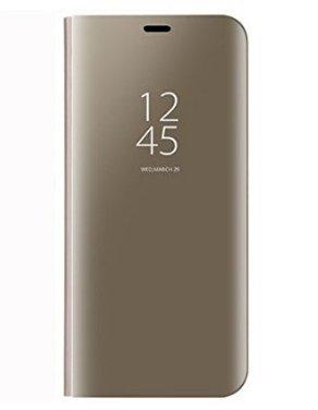BCIT Xiaomi Redmi Note 5A Funda - Modelo Inteligente Fecha/Hora Ver Espejo Brillante tirón del Caso Duro con para el Xiaomi Redmi Note 5A - Oro
