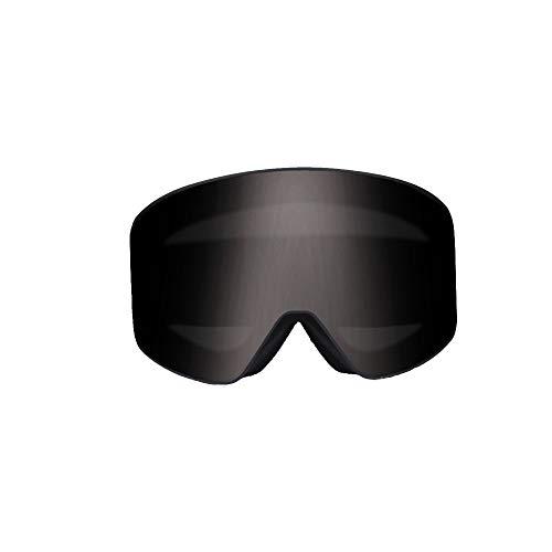 WOXING Grande Esquiando Gafas,Doble Antiniebla Gafas,Ceguera De La Nieve Mujer Hombre Gafas De Sol,Rectangulares Diseño A Prueba De Bloqueos Ciclismo Beisbol-B 18x9.5cm(7x4inch)