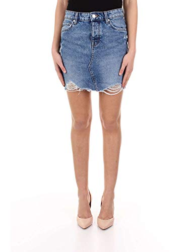 ONLY NOS Damen Rock onlSKY REG DNM SKIRT BB PIM992 NOOS Blau (Light Blue Denim), (Herstellergröße: 36)