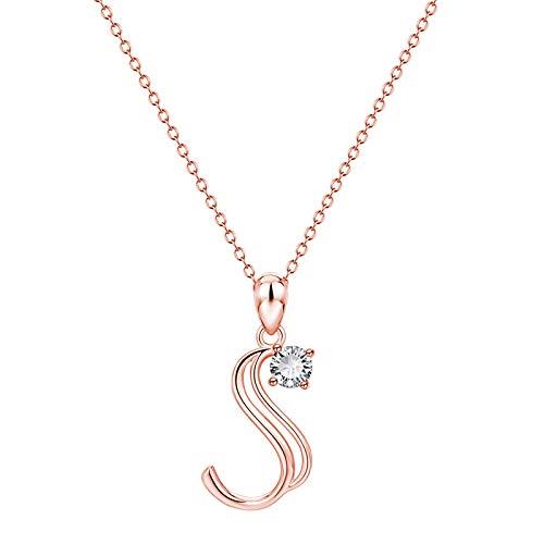 Initial Necklaces for Women Letter Necklaces 26 Capital A-Z Letter Pendant Necklaces for Women Necklace for Men Boys (Multicolor S, 1)
