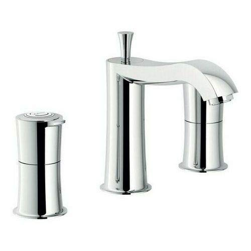 SI98211 / 1CR - Grifo tradicional para lavabo (3 orificios, 1 pulgada, 1/4, NOBILI)