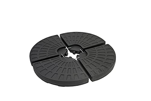 Straame 4PCS Garden Water Parasol Base, Circle Shaped Weight Stand for Cantilever, Sun Umbrella, Parasol, Portable Round Cross Base Weight Fillable with Sand or Water 13L per Piece.