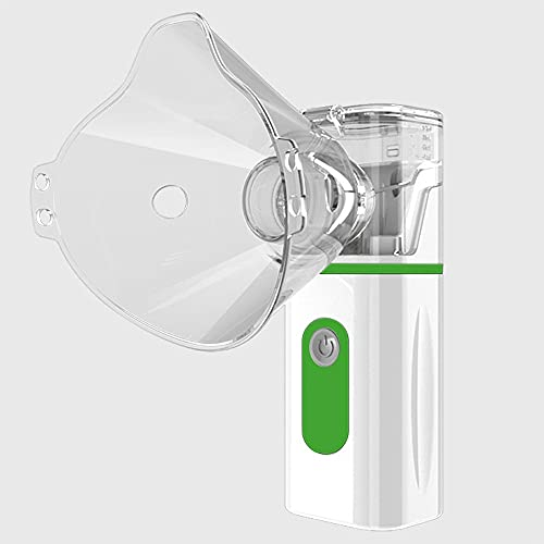 Nebulizador De Inhalación De Bebé Nebulizador Portátil, Mini Nebulizador De Inhalador Portátil Portátil Nebulizador De Inhalador De Malla For Niños Y Adultos (Color : Green)