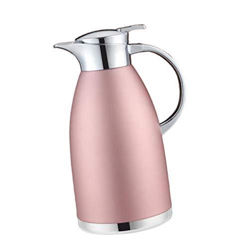 Baoblaze Thermoskanne 1.8L / 2.3L doppelwandig Isolierkanne Kaffeekanne aus Edelstahl - Pink2.3L