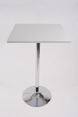 """Bistro-Tisch weiß, Holzplatte quadratisch 102 cm -\""""München\"""""""