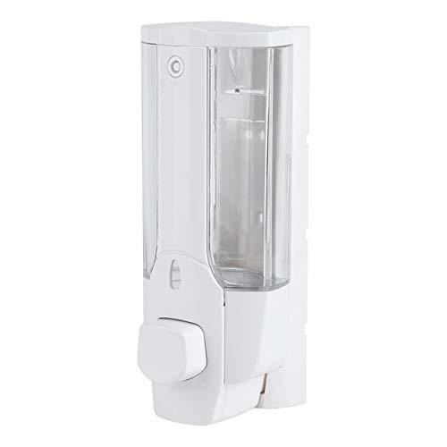 350 ml Dispensador de jabón líquido Desinfectante para Manos Cocina Baño Montado en la Pared Baño Shower Gel Champú Contenedores (Color : White)