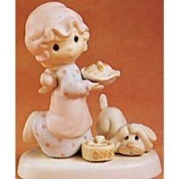 Precious Moments 'caídas en para Navidad' porcelana figura decorativa