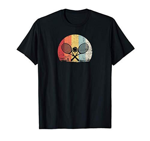 Regalo de Tenis Raqueta Camiseta Retro Tenis Camiseta