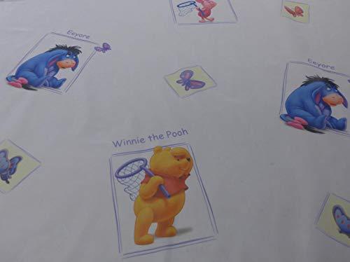 Gardinenstoff Winnie Pooh weiß Motiven Meterware