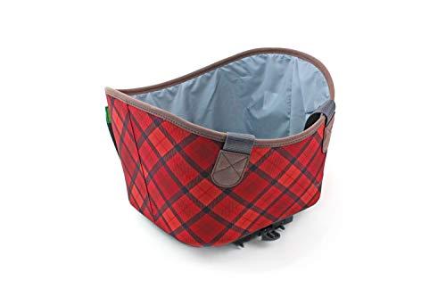 Racktime Unisex– Erwachsene Agnetha Gepäckträgertasche, red, Einheitsgröße