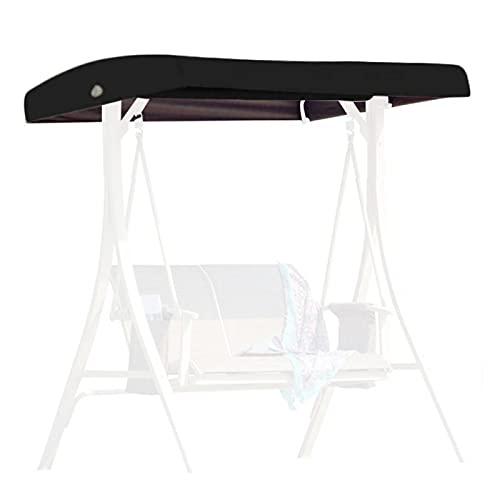 GCDN - Telo di ricambio per dondolo, per sedia a dondolo, impermeabile, di ricambio per esterni, colore: Nero