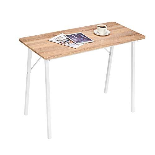 Coavas Schreibtisch Klein Computertisch Einfach Modern Büro Arbeitstisch 1
