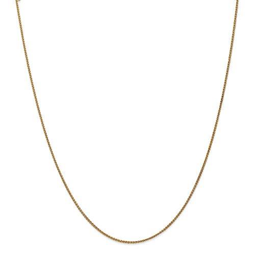 14K giallo oro 1.25mm spiga catena collana 45,7cm