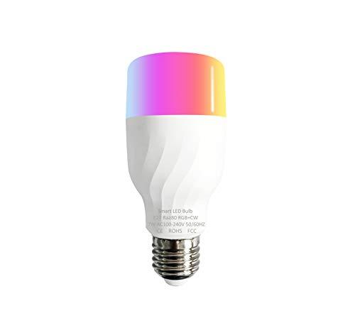 Bombilla conectada LED WIFI G-MOTION, marca francesa de tipo bayoneta B22 o con tornillos E14 y E27, compatible con Alexa Echo Google Home con miles de colores Pack de 2 o Pack de 4, E27, 4 Ampoules