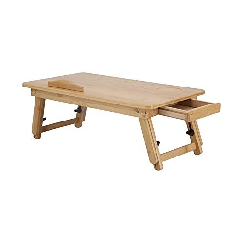 Crisist Soporte del Ordenador Portátil De La Cama, Tabla De Bambú Plegable del Ordenador Portátil para El Dormitorio para El Hogar