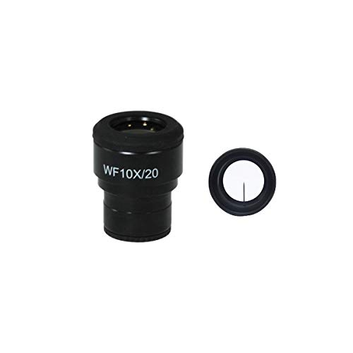 BoliOptics WF 10X Widefield Microscope Eyepiece with Pointer, High Eyepoint, Mounting Size 30mm, Field of View 20mm, Reticle Mount, Adjustable Diopter for Olympus Microscope CX23 (One) SZ04013242