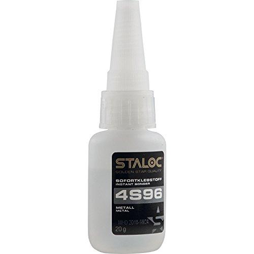 STALOC Sofortklebstoff 4S96 | Sekundenkleber Metall (Stahl, Edelstahl, Alu, Kupfer…) | 20 g