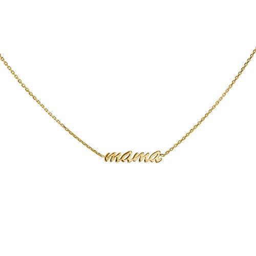 Kobelli'Mama' Necklace Solid 14k Gold Choker
