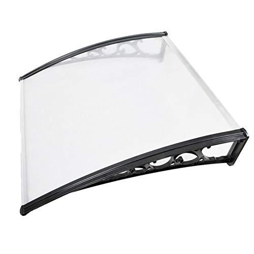 QYQPB Marquesina para, Toldo Transparente del Tablero de La Resistencia del Soporte de La Aleación de Aluminio, Dosel de Techo al Aire Libre de la Ventana del Balcón (Size : 80 * 100cm)