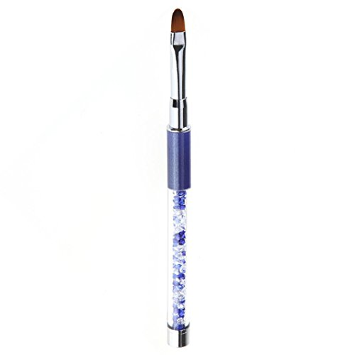 Lhwy penna gel UV nail art carving Pen pennelli acrilico manico Salon Tool (blu scuro)