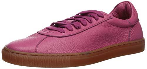 Aquatalia Women's Sofia Tumbled Calf Sneaker, Fuchsia, 9 M US