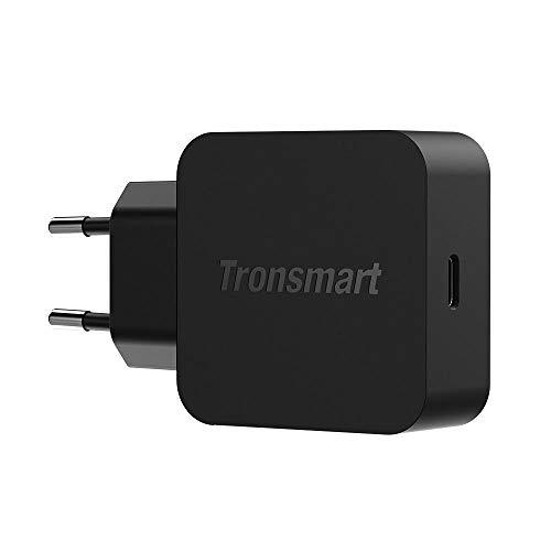 Tronsmart Caricabatterie USB C da Muro 18W, Rapida Carica Caricatore con Power Delivery 3.0 e QC 3.0 e QC 4.0, per iPhone, iPad, Huawei, Samsung, Tablet ECC.
