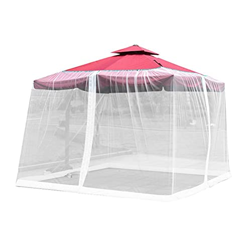 Pantalla de mesa para sombrilla de jardín, cubierta para sombrilla de patio, mosquitero, con cremallera, cubierta de malla para patio