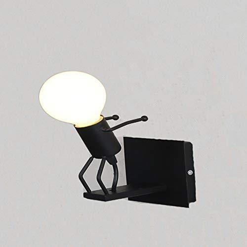 HJXDtech 金属製 ブラケットライト 、可愛い小人 壁掛けランプ 、レトロキャンドルライト 、廊下、ベッドサイド、玄関、子供部屋用の壁取り付け用照明器具 (壁灯/跳躍)