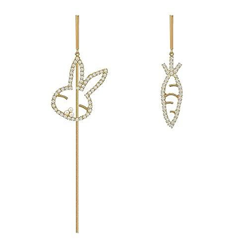 Pendientes asimétricos, sentido de la alta moda, lujo ligero, pendientes de diseño de nicho, pendientes de temperamento, pendientes personalizados