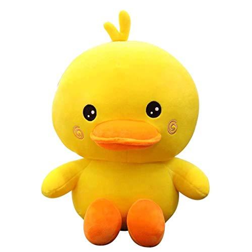 WJTMY Lustige Bett-Zeit Kuscheltier Spielzeug, Nette weiche Plüsch-Ente - Gelb Geschenke for Kinder Babys (Size : Large)