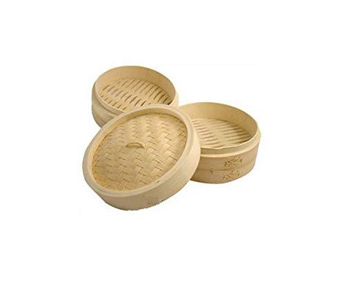 JapanBargain 2222, Bamboo Steamer Basket 8 inch Chinese Food Rice...