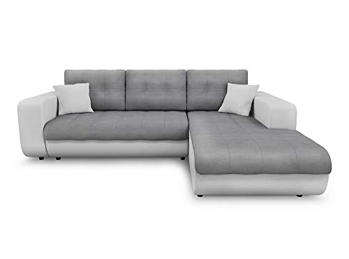Canapé d'angle 4 places Blanc Microfibre Pas cher