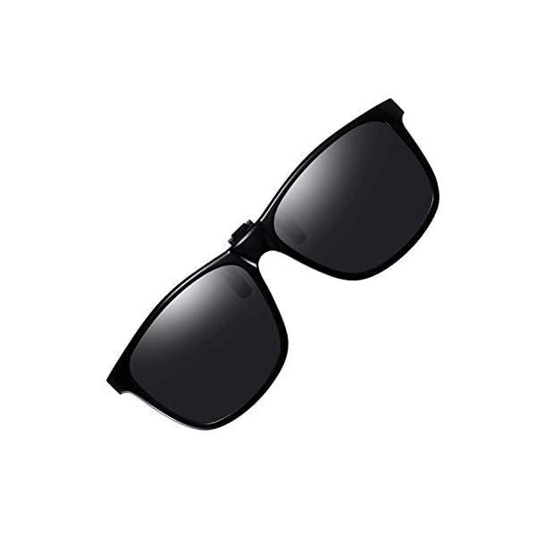 Polarized Clip on Sunglasses UV Protection Anti Glare Driving Glasses Flip Up clip-on Sunglasses for Prescription Glasses