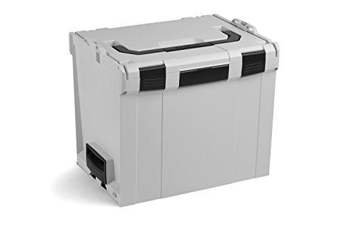 Bosch Sortimo L BOXX 374 | Größe 4 grau | Werkzeugkoffer groß leer | Aufbewahrung Werkzeug leer | Ideales Transportsystem Werkzeug