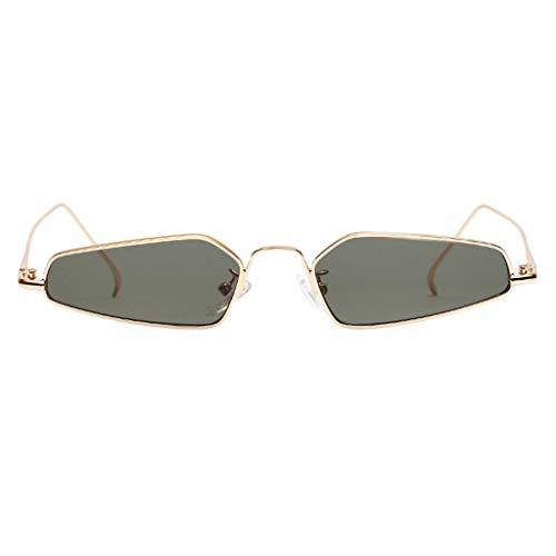 Milageto Gafas de Sol Frescas de Ojo de Gato de Moda para Mujer Sombras de Lentes Teñidas Gafas UV Anti - Verde