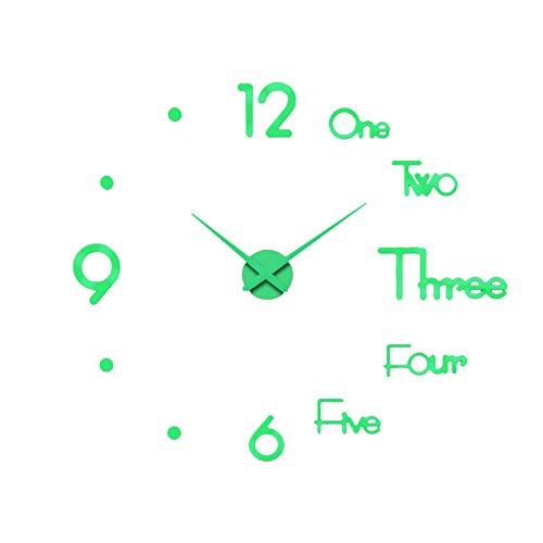 Ligege Relojes de Pared Luminosos 3D DIY Reloj de Madera silencioso sin tictac con luz Nocturna Reloj de decoración de Pared sin Marco Reloj de Pared Decorativo para Cocina Oficina Dormitorio