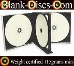 10 Indigo Single CD Jewel Cases 10.4mm Black Tray