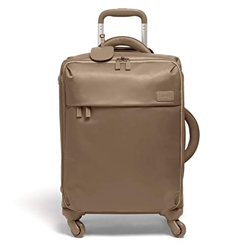 Lipault - Original Plume Spinner 55/20 Luggage - Carry-On Rolling Bag for Women - Dark Taupe