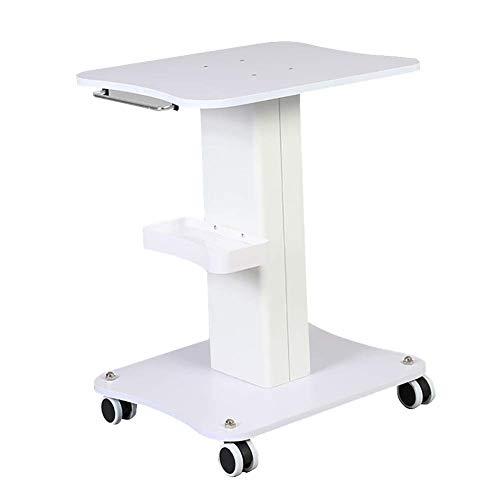 MJY Carrito para vehículos de reciclaje, carrito para equipo rodante para salón de belleza, spa, carrito para instrumentos médicos con bandeja de almacenamiento y ruedas, carga de 50 kg (blanco), veh