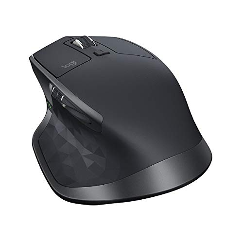 Logitech MX Master 2S - Mouse - laser - 7 buttons - wireless - 2.4 GHz - USB wireless receiver - gra...