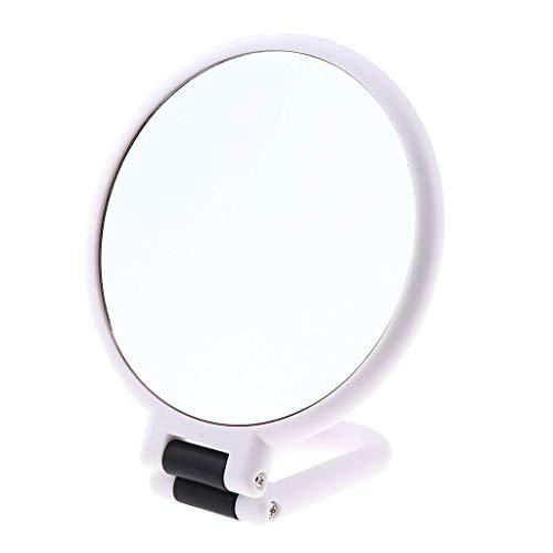 Miroir grossissant de maquillage double face avec poignée pliable, multifonction - X10