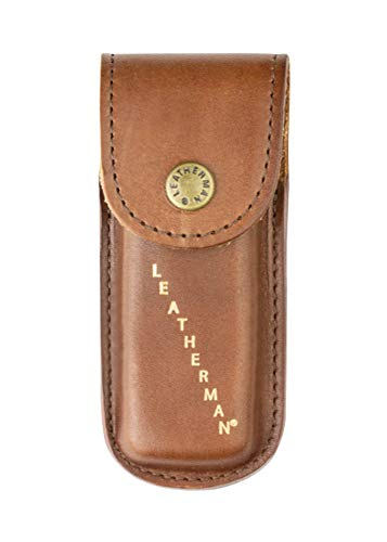 LEATHERMAN, Heritage Leather Snap Sheath for Multitools, Made in the USA, Small (Fits Rebar, Wingman, Rev, and Sidekick)