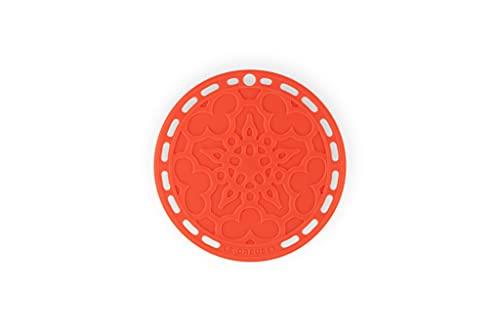 Le Creuset Salvamanteles French, Silicona, Resistente al calor hasta 250 grados Celsius, diámetro 20 cm, Naranja Volcánico