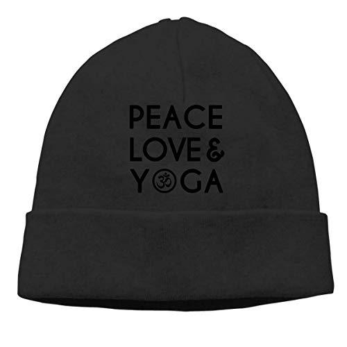 Yuanmeiju Peace Love Yoga Adult Hip Hop Breakdance Mützes Caps Unisex Soft Cotton...