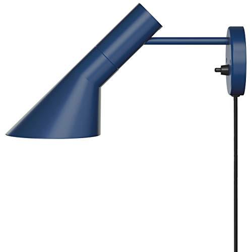 AJ Wall Lamp, Louis Poulsen, Lámpara de Pared Diseñada por Arne Jacobsen (Azul Noche)