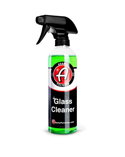 Adam's Glass Cleaner (16oz) - Car Window Cleaner   Car Wash All-Natural Streak Free Formula for Car Cleaning   Safe On Tinted & Non-Tinted Glass   Won't Strip Car Wax or Paint Protection
