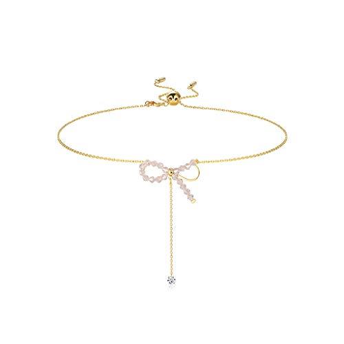 ZPEE Collares Arco clavícula Collar de Cadena Collar Pendiente Accesorios - Colgante del Encanto Gargantilla Delicada