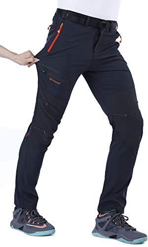 CARETOO - Pantaloni da uomo spessi, traspiranti, per attività all'aria aperta, per escursioni, jogging, montagna, sport, sci, trekking, antivento, caldo, autunno, inverno, primavera
