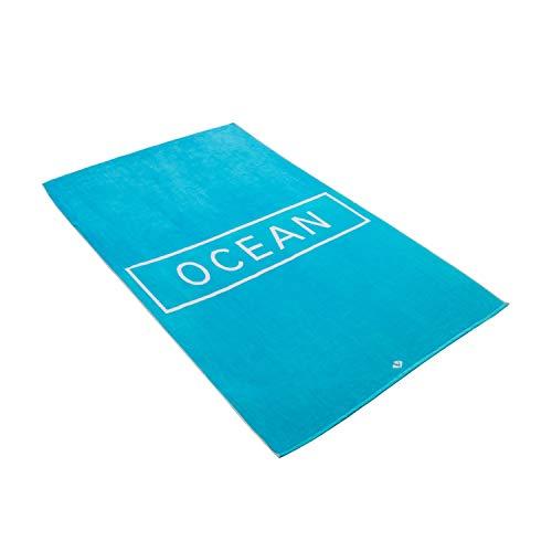 Vossen Strandtuch Ocean Turquoise, 100 x 180 cm